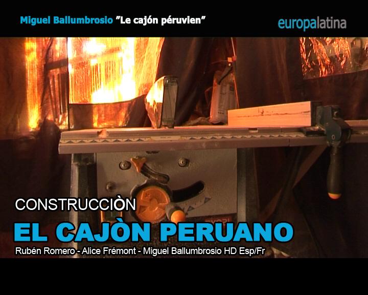 Construcción del Cajon Peruano
